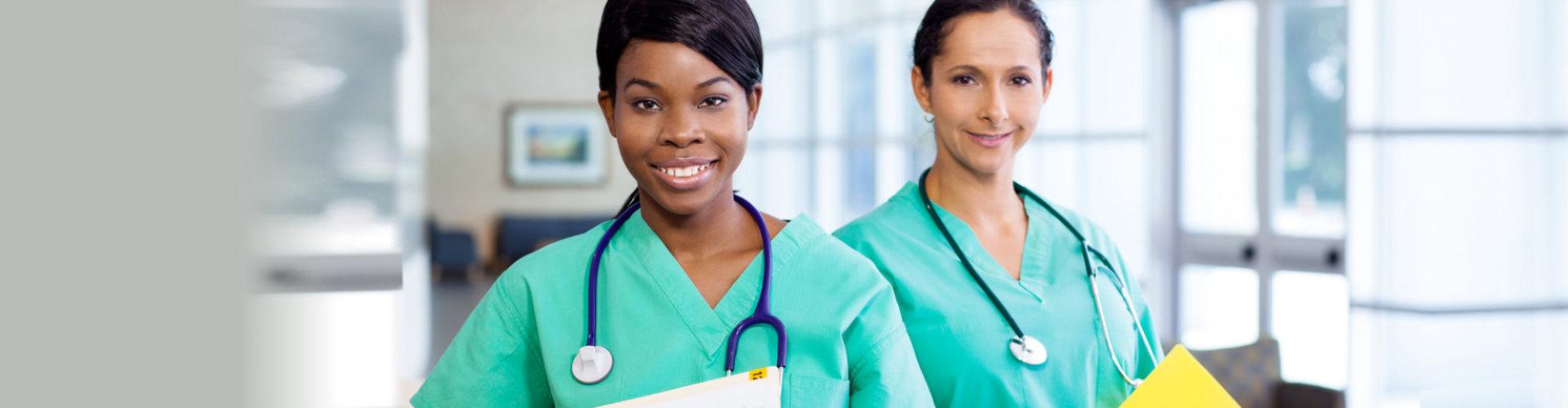 Medical health worker smiling